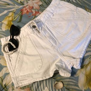 Free People White Shorts NEVER WORN!!